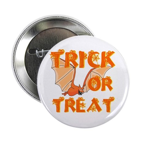 "Trick or Treat Bat 2.25"" Button (10 pack)"