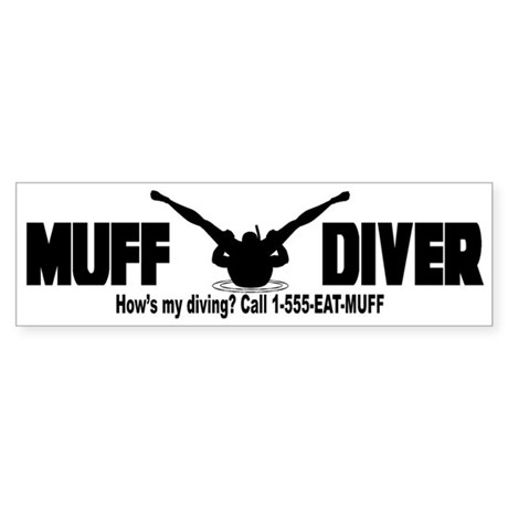 Muff Diving Bumper Sticker
