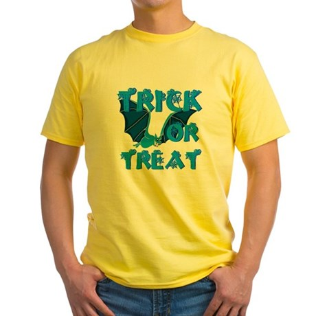 Trick or Treat Bat Yellow T-Shirt