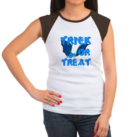Trick or Treat Bat Women's Cap Sleeve T-Shirt