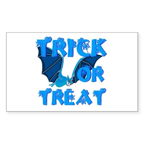 Trick or Treat Bat Rectangle Sticker