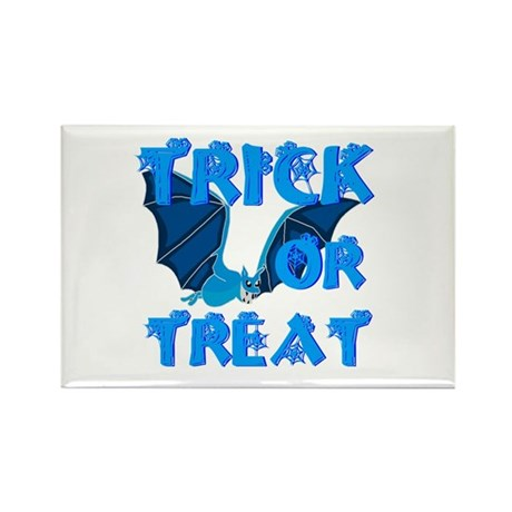 Trick or Treat Bat Rectangle Magnet (10 pack)