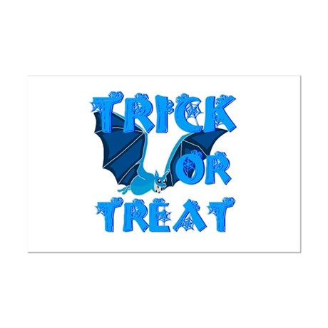 Trick or Treat Bat Mini Poster Print
