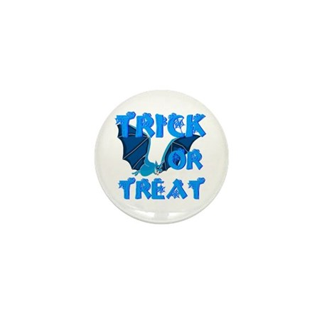 Trick or Treat Bat Mini Button (10 pack)