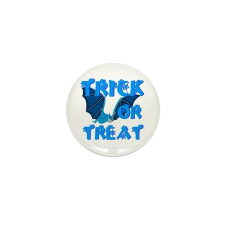 Trick or Treat Bat Mini Button