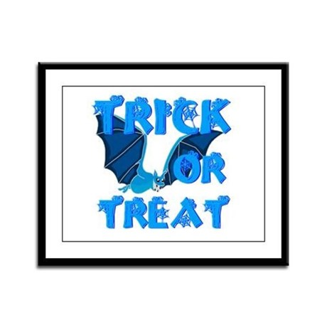 Trick or Treat Bat Framed Panel Print