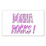 Donna Rocks! Rectangle Decal