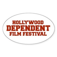 DEPENDENT FILM FESTIVAL Oval Decal