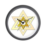 Judaism Star Of David Wall Clock
