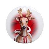Italian Greyhound Reindeer Ornament (Round)