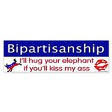 Bipartisanship Bumper Bumper Sticker