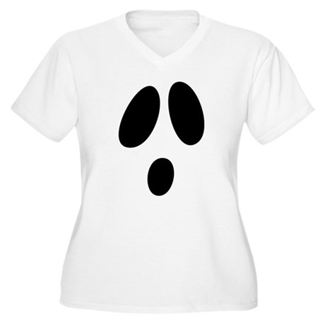 Ghost Face Women's Plus Size V-Neck T-Shirt