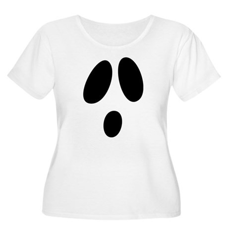 Ghost Face Women's Plus Size Scoop Neck T-Shirt