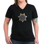 Inspector San Francisco Police Women's V-Neck Dark