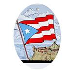 Oval Ornament Bandera de Puerto Rico