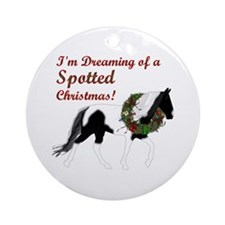 I'm Dreaming of a Spotted Xmas Round Ornament