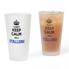 Funny Stallone Drinking Glass