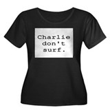 CHARLIE DON'T SURF Women's Plus Size Scoop Neck Da