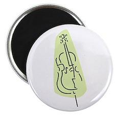 Bass Fiddle Magnet (Green)