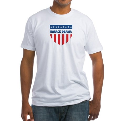 BARACK OBAMA 08 (emblem) Fitted T-Shirt