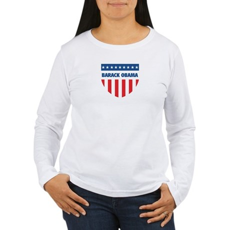 BARACK OBAMA 08 (emblem) Women's Long Sleeve T-Shi