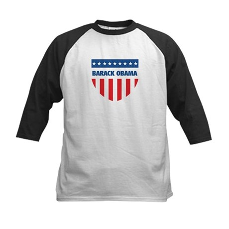 BARACK OBAMA 08 (emblem) Kids Baseball Jersey
