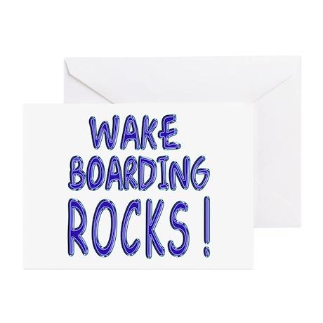 Wake Boarding Rocks ! Greeting Cards (Pk of 10