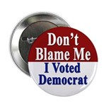 I Voted Democrat Button (10 pack)