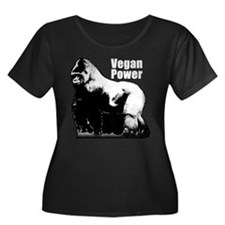 Gorilla Vegan Power Plus Size T-Shirt