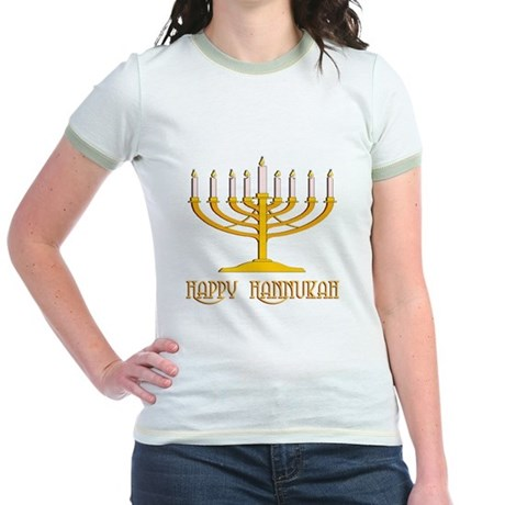 Happy Hanukkah Jr. Ringer T-Shirt