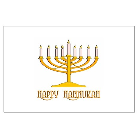 Happy Hanukkah Large Poster