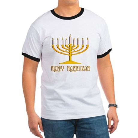 Happy Hanukkah Ringer T