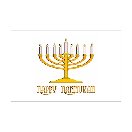 Happy Hanukkah Mini Poster Print