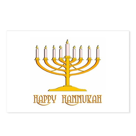 Happy Hanukkah Postcards (Package of 8)