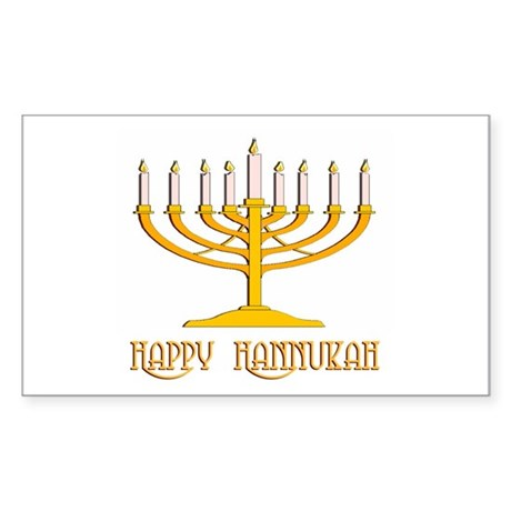 Happy Hanukkah Rectangle Sticker