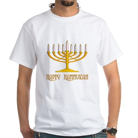 Happy Hanukkah White T-Shirt