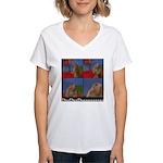 Dramatic Look Women's V-Neck T-Shirt