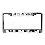 funny male nurse license plate frame