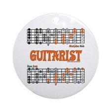 Blues/Mixolydian Cheat Sheet Ornament (Round)