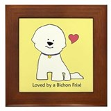 Loved By A Bichon (yellow) Framed Tile