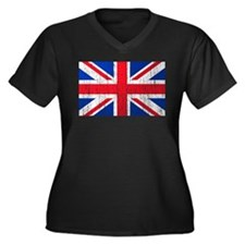 Union Jack Flag Distressed Look Women's Plus Size