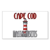 Cape Cod MA Rectangle Decal