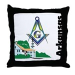 Arkansas Freemasons  Throw Pillow