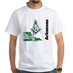Arkansas Freemasons White T-Shirt