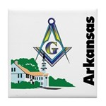 Arkansas Freemasons  Tile Coaster