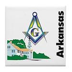 Arkansas Freemasons  Tile Coaster