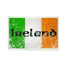 Ireland Flag Distressed Look Rectangle Magnet