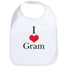 I Love (Heart) Gram Bib