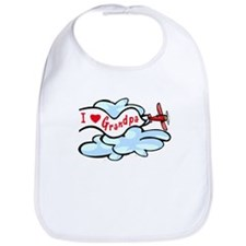 I Love Grandpa Airplane Bib
