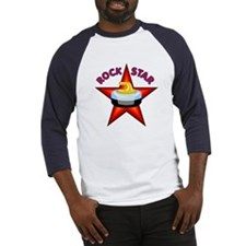 """Rock Star (Curling)"" Baseball Jersey"
